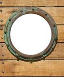 стена porthole деревянная стоковая фотография