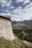 стена potala Стоковое Изображение