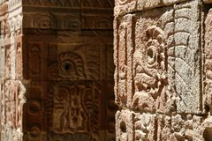 стена quetzal дворца Мексики бабочки Стоковая Фотография RF
