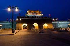 стена qufu ночи строба города фарфора Стоковое Фото