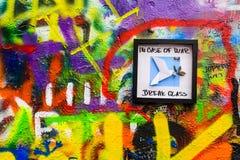 Стена ` s Джон Леннон в Праге Стоковые Изображения