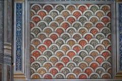 Стена ` s собора Альби, крася на ей Стоковое Изображение