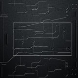 Стена Scifi стена и цепи волокна углерода Предпосылка металла Стоковые Изображения