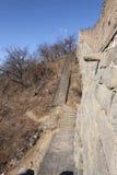стена sideview mutianyu фарфора Пекин большая Стоковое фото RF