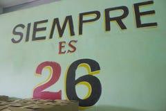 Стена Siempre es 26 Стоковые Фотографии RF