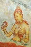 стена sigiriya утеса картины скита Стоковое Изображение