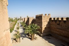 Стена Taroudant защитительная Стоковые Фотографии RF