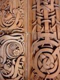 стена terracotta детали стоковая фотография