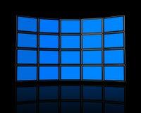 стена tv плоское экран Стоковые Изображения RF