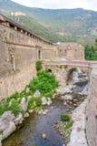 Стена Villefranche de Conflent - Франции Стоковое Изображение