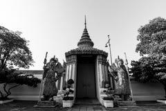 Стена Wat Pho в Бангкоке, Таиланде Стоковые Изображения RF