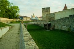 Стена Znojmo крепости стоковая фотография rf