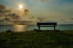 Стенд морем, Шотландией стоковые фотографии rf