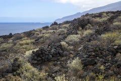 Стены лавы с взглядом Стоковые Изображения RF