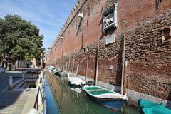 Стены арсенала Венеции, Италии стоковая фотография rf