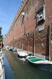 Стены арсенала Венеции, Италии стоковые изображения rf