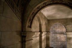 Стены библиотеки стоковые изображения rf