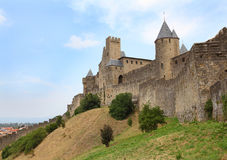 Стены вокруг средневекового города Стоковые Изображения