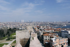 Стены города в Стамбул, Турции Стоковое Изображение