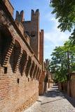 стены городка gradara Стоковые Фото