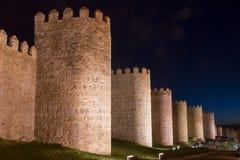 Стены города Авила (Испания) стоковые изображения