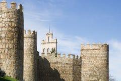 Стены города Авила (Испания) стоковые изображения rf