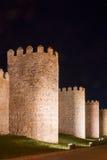 Стены города Авила (Испания) стоковое фото