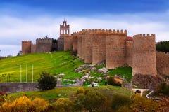 Стены городка avila Испания Стоковая Фотография RF