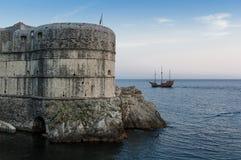 Стены Дубровник, Хорватия города Стоковое Фото