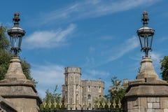 Стены замка Виндзора, Виндзора, Англии Стоковая Фотография RF