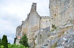 Стены замка в варолиевом мосте, Франции Стоковые Фото