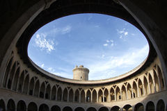 Стены замка Bellver круглые Стоковые Фото