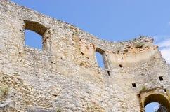 Стены замка Spissky Hrad, Словакии стоковые изображения rf