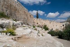 стены Иерусалима старые стоковые фото