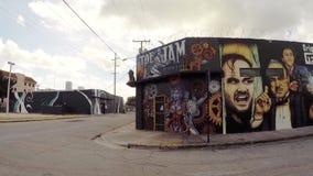 Стены искусства на Wynwood Майами акции видеоматериалы