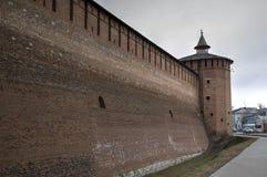Стены и башни Кремля в Kolomna Стоковая Фотография