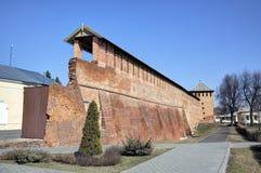 Стены и башни Кремля в Kolomna Стоковые Фото