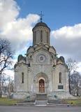 Стены и башни монастыря Andronikov moscow Россия Стоковое Изображение RF