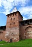 Стены и башни Новгорода Кремля Стоковые Изображения RF