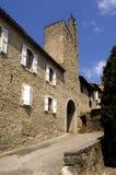 Стены и дверь, Святой Lizier, Стоковое фото RF