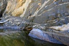 Стены каньона падений Tanque Verde Стоковые Фотографии RF