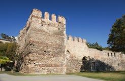 Стены Константинополя или стены Theodosian в Стамбуле, Турции Стоковое Изображение RF