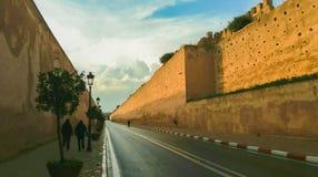 Стены королевского замка Стоковая Фотография RF