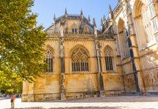 Стены монастыря Batalha Стоковая Фотография RF
