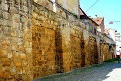 Стены средневекового городка в cluj-Napoca, Трансильвании Стоковое Изображение