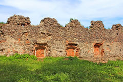 Стены средневекового замка Uzhhorod, Украины Стоковое Изображение