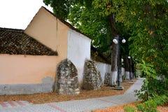 Стены средневековой церковь-крепости Cristian, Трансильвании Стоковое Изображение RF