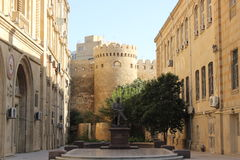 Стены старого Баку Стоковое фото RF