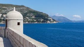 Стены старого городка Дубровника, Хорватии Стоковые Изображения RF