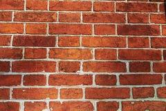Стены старого красного кирпича стена текстуры кирпича старая Стоковое Изображение